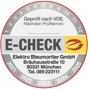 Elektro Bleumortier - E-Check